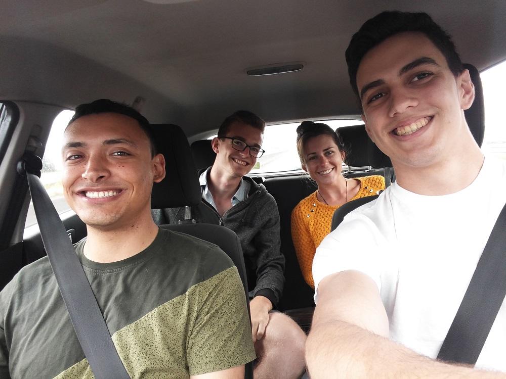 Pris en autostop par deux américains rencontrés sur l'île de Terceira