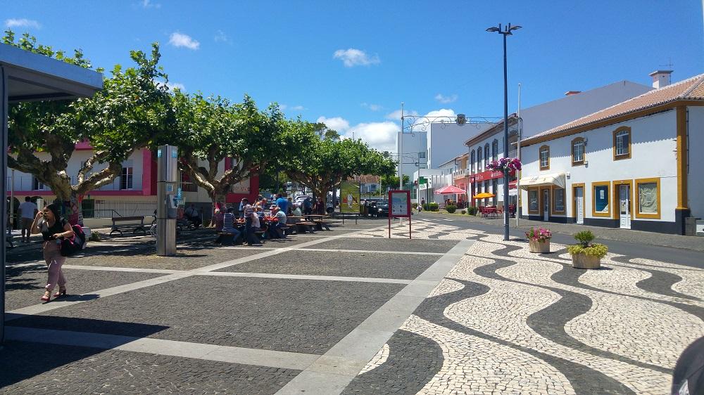 Le centre-ville de Praia à Terceira